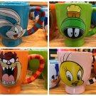 Six Flags Magic Mountain Looney Tunes Bugs Tweety Bird Taz Marvin Jumbo Mug Set