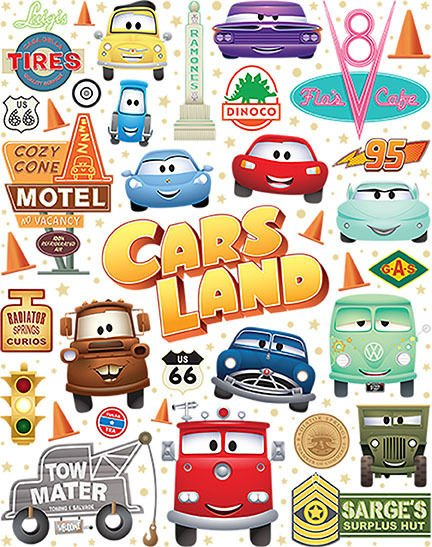 Disney WonderGround Cars Cutest Little Town Postcard by Jerrod Maruyama New