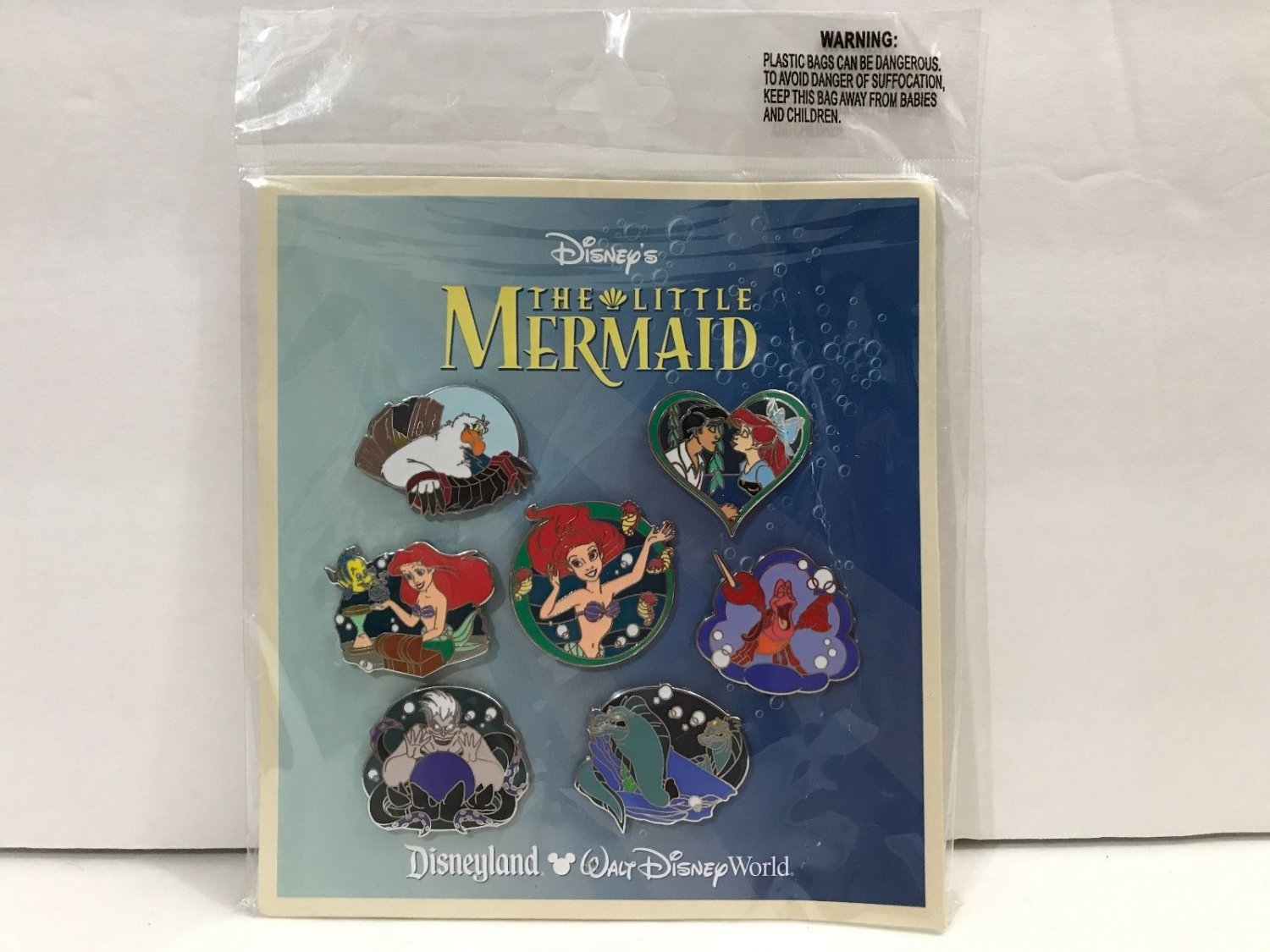Disney Parks The Little Mermaid Ariel and Friends Trading Pin Set New Sealed