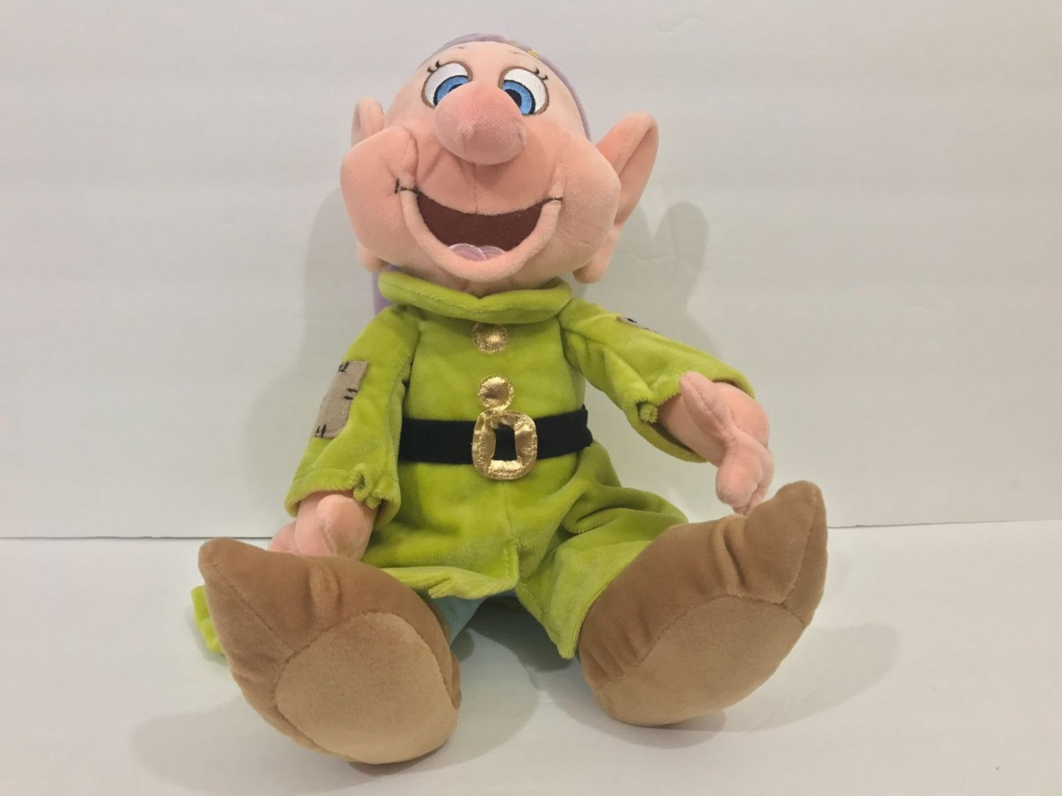 """DISNEY PARKS DOPEY FROM SNOW WHITE & THE 7 DWARFS 12"""" PLUSH NEW WITH TAGS"""