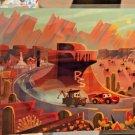 Disney WonderGround Cars Race Around Radiator Springs Postcard by Joey Chou New
