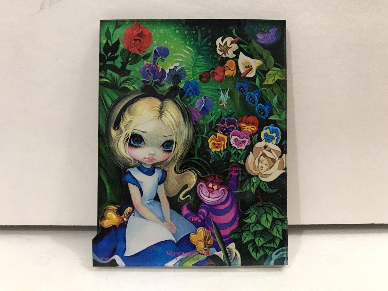 Disney Wonderground Gallery Alice In The Garden Magnet Jasmine Becket-Griffith