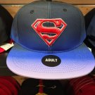 Six Flags Magic Mountain Superman Shield Purple Lip Adjustable Snapback Hat Cap