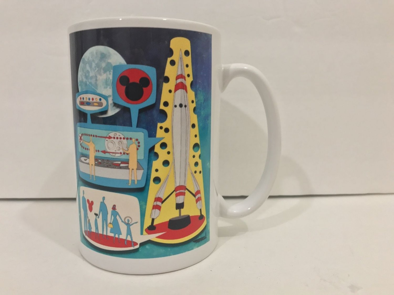 Disney WonderGround Gallery Rocket To The Moon Ceramic Mug Michelle Bickford New