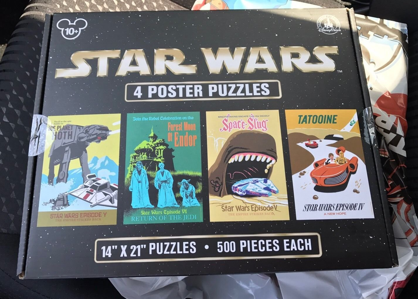 New Disney Parks Star Wars Poster Puzzle 500 piece Set of 4