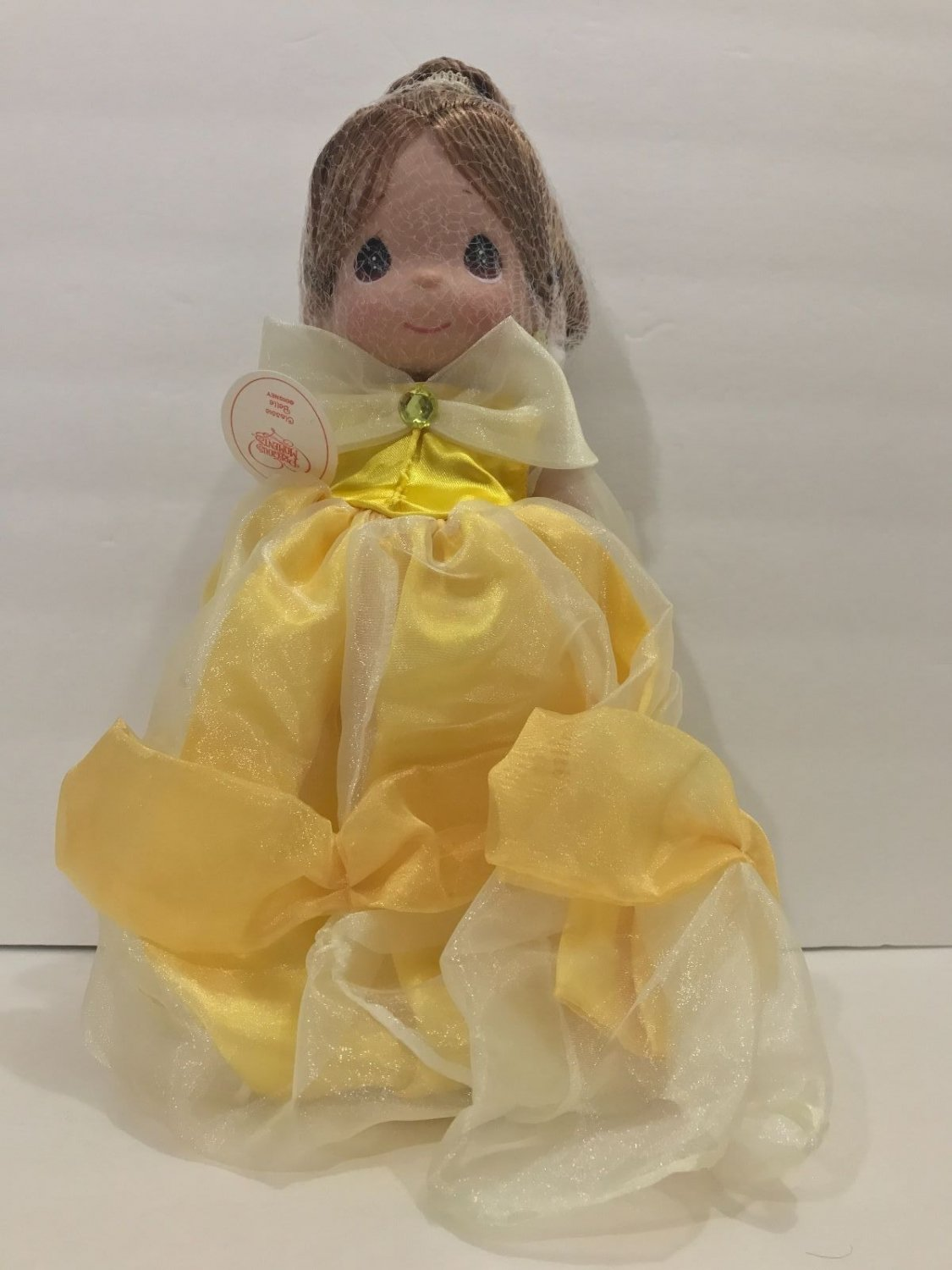 """Disney Park Precious Moments Princess Belle 16"""" Signed by Linda Rick New in Box"""