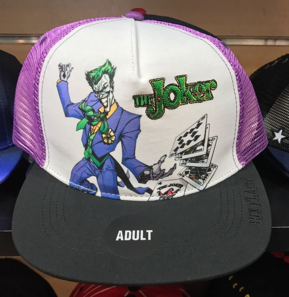 Six Flags Magic Mountain The Joker Meshed Adjustable Snapback Hat Cap New