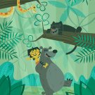 Disney WonderGround JUNGLE BOOK BEAR NECESSITIES Postcard by Ben Burch New