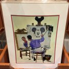 Disney Parks Walt Disney & Mickey Mouse Self Portrait Deluxe Print New