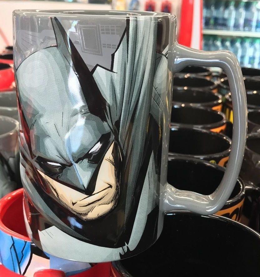 Six Flags Magic Mountain Dc Comics Batman N52 Graphic Ceramic Mug New