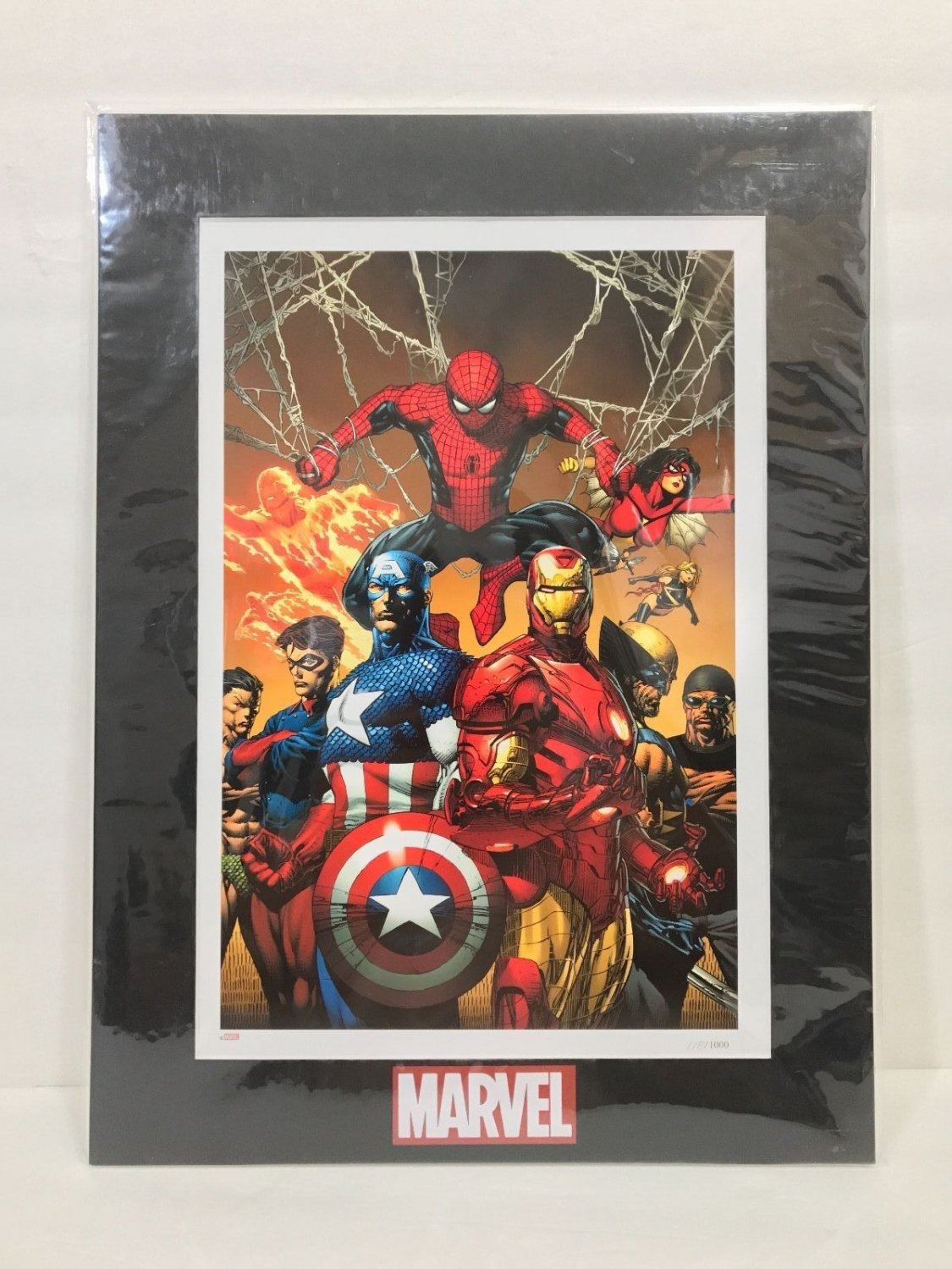 Disney Parks Authentic Marvel Lithograph Print Limited Edition Enforcers New