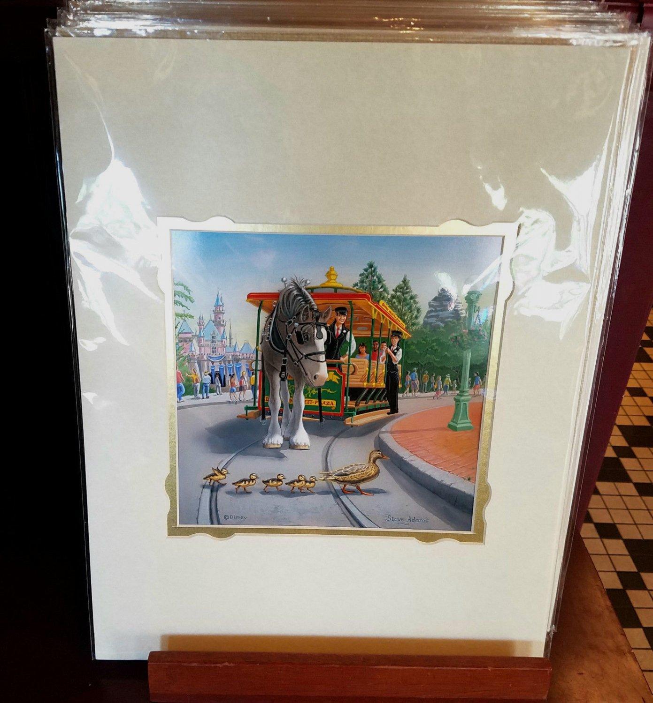 Disney Parks Main Street Traffic Stop Deluxe Print By Steve Adams New