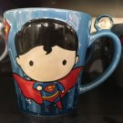 Six Flags Magic Mountain Dc Comics Superman Cuties Chibi Ceramic Mug New