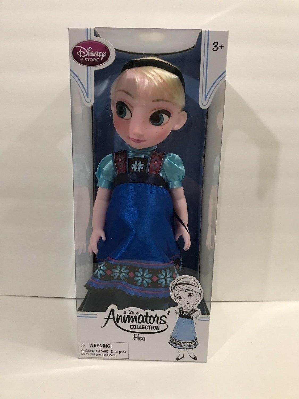 "Disney Store Disney Animators Collection Frozen 16"" Toddler Elsa Doll New"