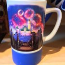 DISNEYLAND PRINCESS AURORA'S CASTLE CERAMIC MUG RUBBER BOTTOM NEW