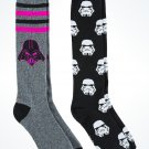 Disney Parks Star Wars Darth Vader / Stormtrooper Adult Socks New (2Pack)