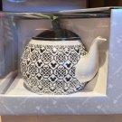 Disney Parks Iconic Mickey Mouse Black Ceramic Tea Pot New in Box
