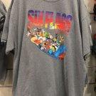 Six Flags Magic Mountain Looney Tunes Men's Gray Shirt S,M,L XL,XXL New