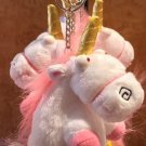 "Universal Studios Exclusive Despicable Me Unicorn 4"" Plush Figure Keychain New"
