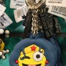Six Flags Magic Mountain Wonder Woman Emoji Keychain New