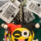 Six Flags Magic Mountain Harley Quinn Emoji Keychain New