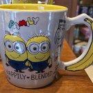 Universal Studios Despicable Me Minions Banana Shape Handle Mug Happily Blended