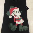 Disneyland Resort Santa Mickey Mouse Print Christmas T-Shirt Size Large New