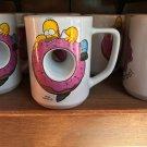 Universal Studios Exclusive The Simpsons White Ceramic Homer Mug Mmm... Carbs!