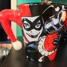 Six Flags Magic Mountain Dc Comics Joker & Harley Quinn 3-D Ceramic Mug New