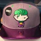 Six Flags Magic Mountain Dc Comics The Joker Emoji Purple Lip Hat Cap New