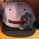 Universal Studios Exclusive Jurassic World Gray Snapback Hat Cap New