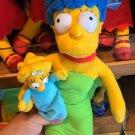 "Universal Studios Exclusive The Simpson Marge & Maggie Simpson 14"" Plush Set New"