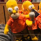"""Universal Studios Exclusive The Simpson Homer and Duff Beer 15"""" Plush Doll New"""