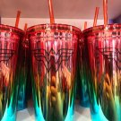 Six Flags Magic Mountain Wonder Woman 20oz Metallic Travel Tumbler New