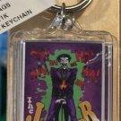 Six Flags Magic Mountain DC Villain The Joker Clear Acrylic Keychain New.