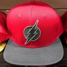 Six Flags Magic Mountain Dc Comics The Flash Gray Stitch Snapback Hat New*
