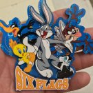 Six Flags Magic Mountain Looney Tunes Bugs Tweety Pussyfoot Daffy Wood Magnet