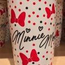 Disney Parks Minnie Mouse Signature Ceramic Travel Mug Lid New