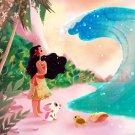 Disney WonderGround Gallery Ocean is Calling Moana Print by Eunjung June Kim