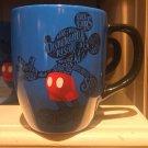 Disney Parks Disneyland Resort Aww Shucks Mickey Mouse Black Handle Mug New