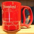 Disney Parks Disneyland Resort Main Street Blue Print D Handle Ceramic Mug New