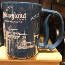 Disney Parks Disneyland Resort Sleeping Beauty Castle Blue Print D Handle Mug