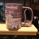 Disney Parks Disneyland Resort Haunted Mansion Blue Print D Handle Mug