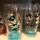 Disney Parks Light Blue Base Minnie Mouse Single Glass Cup New
