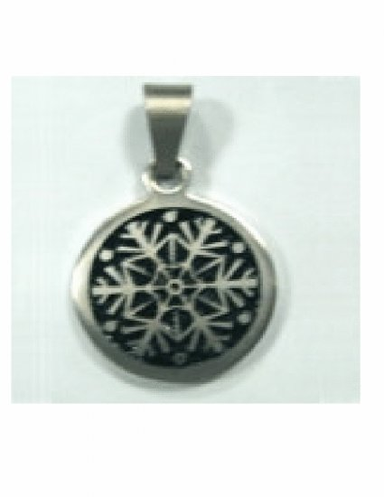 Free shipping--Stainless Steel Snowflake Design Pendant