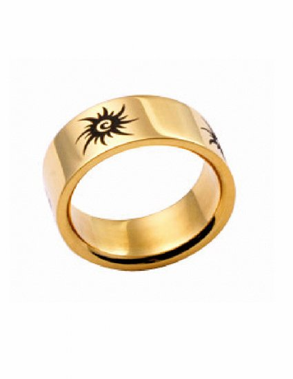 Free shipping--Gold Filled Stainless Steel Wedding Ring