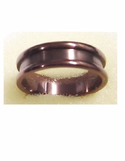 Free shipping--Stainless Steel Brown Color Ring