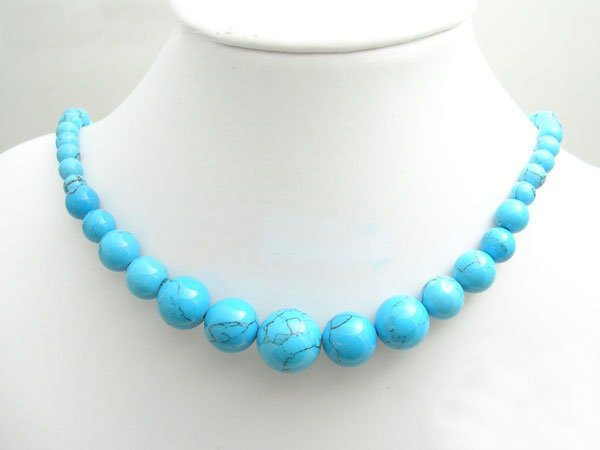 Free shipping---Turquoise Beads Necklace