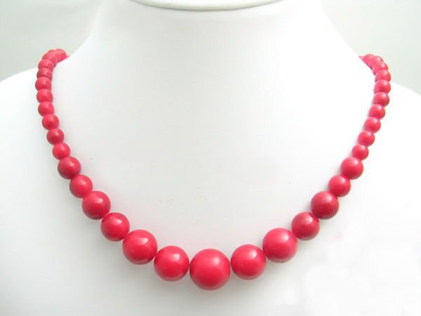 Free shipping---Coral  Beads Necklace