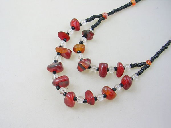 DSCN-5552     Agate, Crystal Beads Necklace